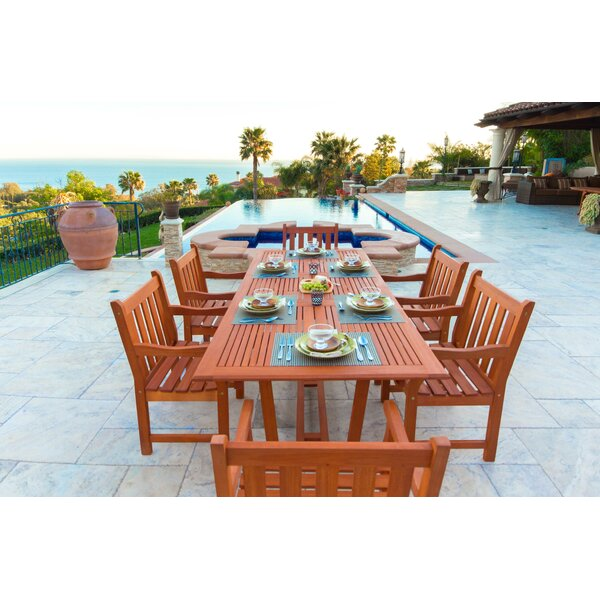 Airblade 7 Piece Dining Set by Vifah
