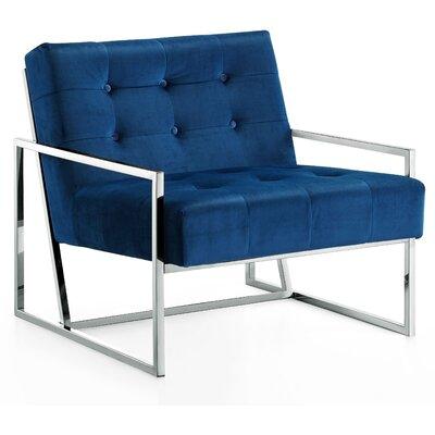 Jani Armchair Upholstery Color: Navy, Leg Color: Chrome
