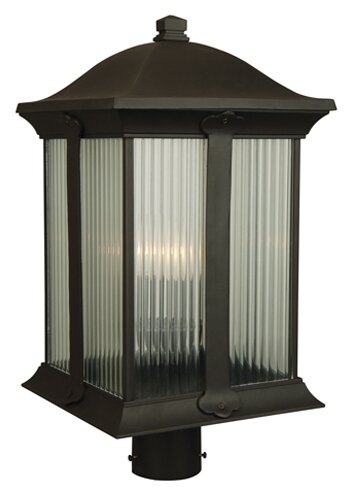 Oakhill Outdoor 3-Light Post Light by Charlton Home