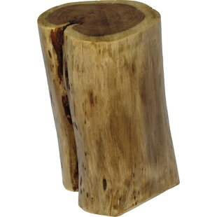 Fontanelle Hardwood Stump End Table
