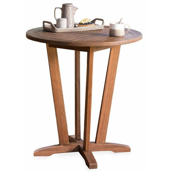 Eucalyptus Outdoor Wooden Bistro Table by Plow & Hearth