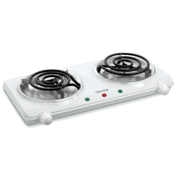 Portable 17 Electric Cooktop with 2 Burners by Salton