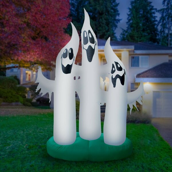 Giant Airblown Inflatable Ghost Family by The Holiday Aisle