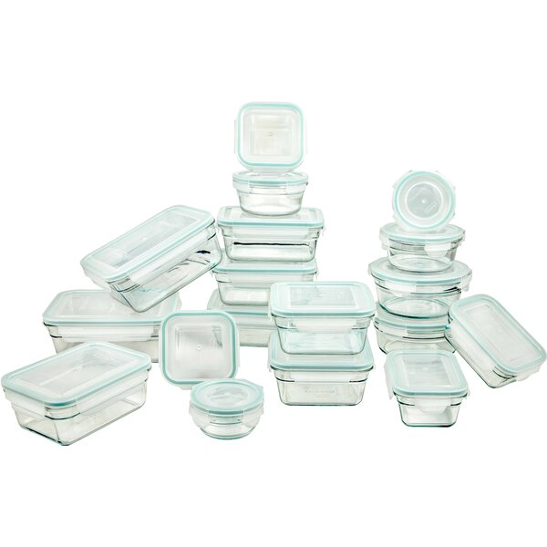 Tempered Glasslock 18 Container Food Storage Set by Glasslock