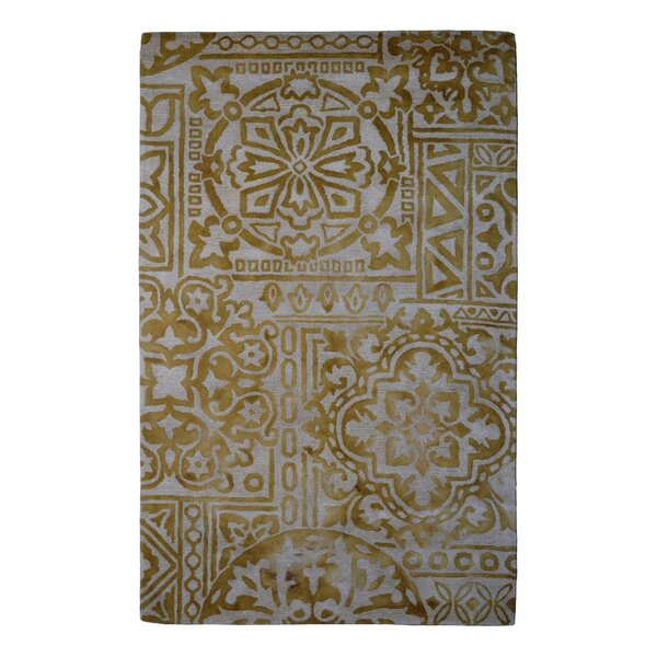 Wool Floral Hand-Tufted Ivory/Gold Area Rug by Eastern Weavers