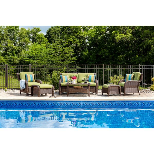 Sawyer 6 Piece Sunbrella Sofa Seating Group with Sunbrella Cushions by La-Z-Boy Outdoor