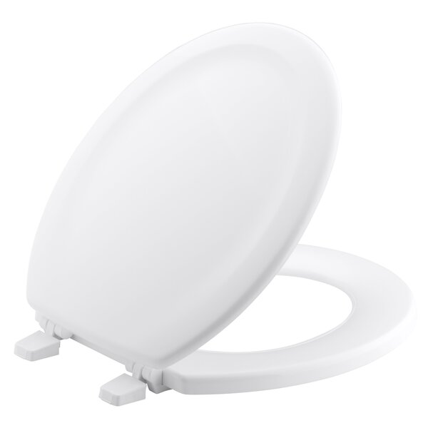 Stonewood with Quick-Release Hinges Round-Front Toilet Seat by Kohler
