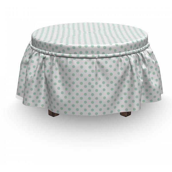 Pastel Polka Dots Baby 2 Piece Box Cushion Ottoman Slipcover Set By East Urban Home