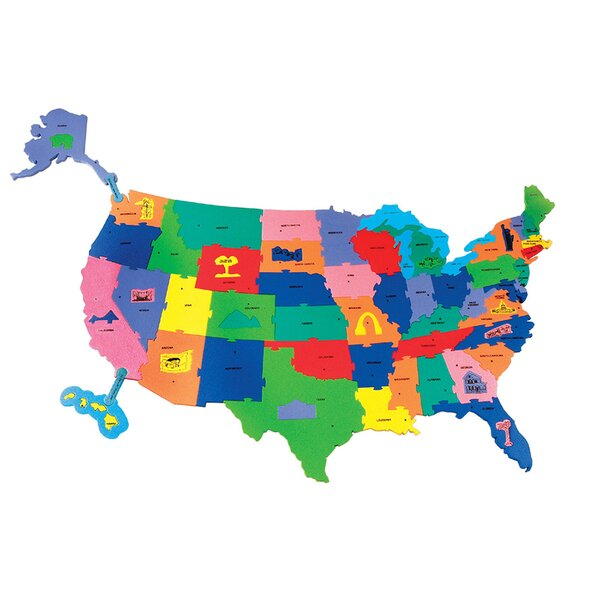 Giant Wonderfoam Us Puzzle Map by Chenille Kraft Company
