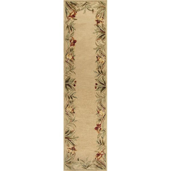 Murray Beige Rainforest Floral Area Rug by Bay Isle Home