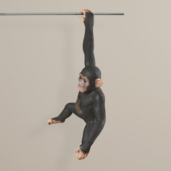 Lebow Idriss Hanging Jungle Monkey Statue by World Menagerie