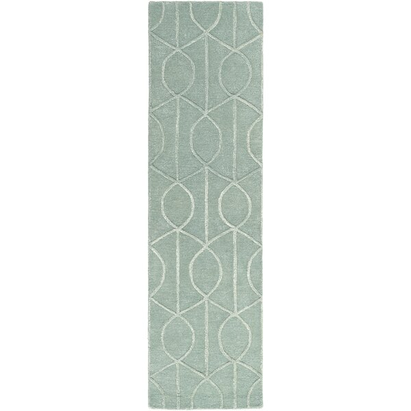 Abbey Hand-Tufted Teal Area Rug by Wade Logan