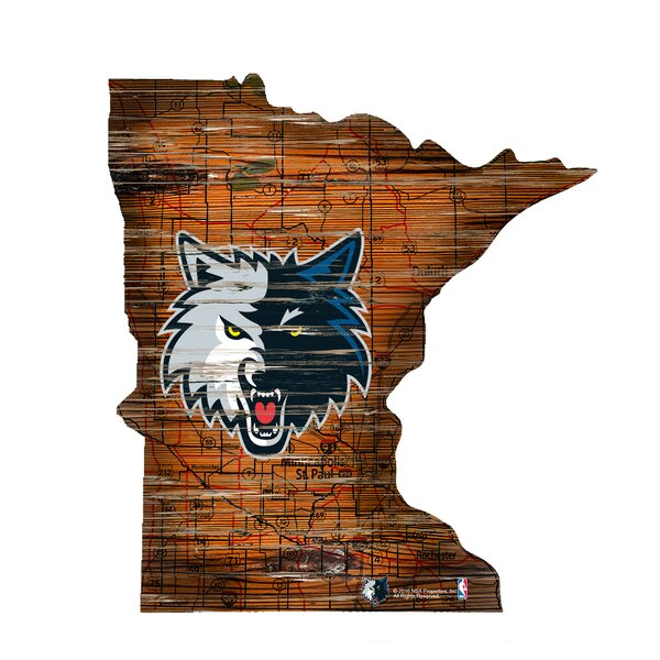 NBA Timberwolves Distressed State Wall Décor by Fan Creations