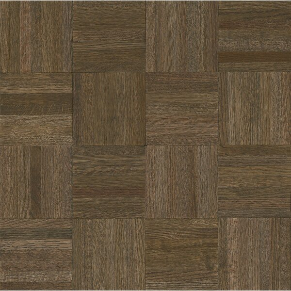 Millwork 12 Solid Oak Parquet Hardwood Flooring in Oceanside Gray by Armstrong Flooring