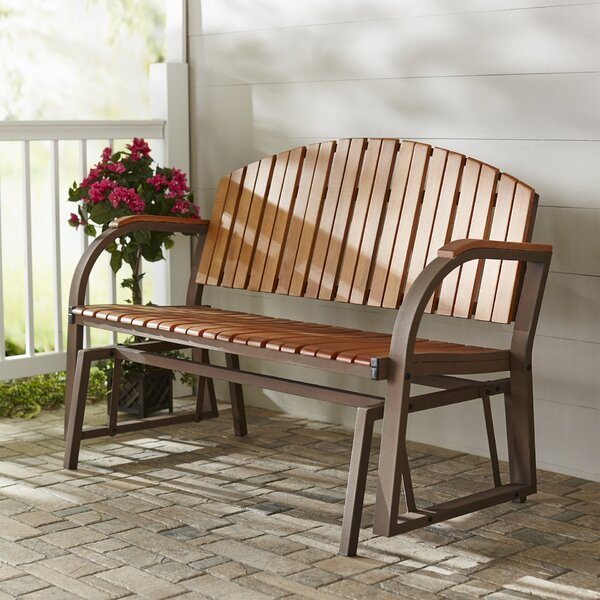 Nicholson Slat Glider Bench by Three Posts