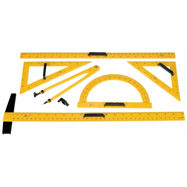 Drawing Tool Set Wall Mounted Whiteboard / Chalkboard by Alvin and Co.