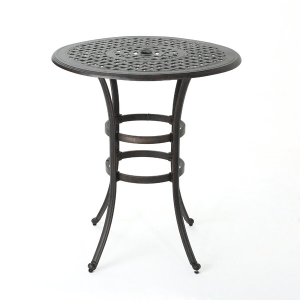 Corle Outdoor Cast Aluminum Bar Table by Darby Home Co