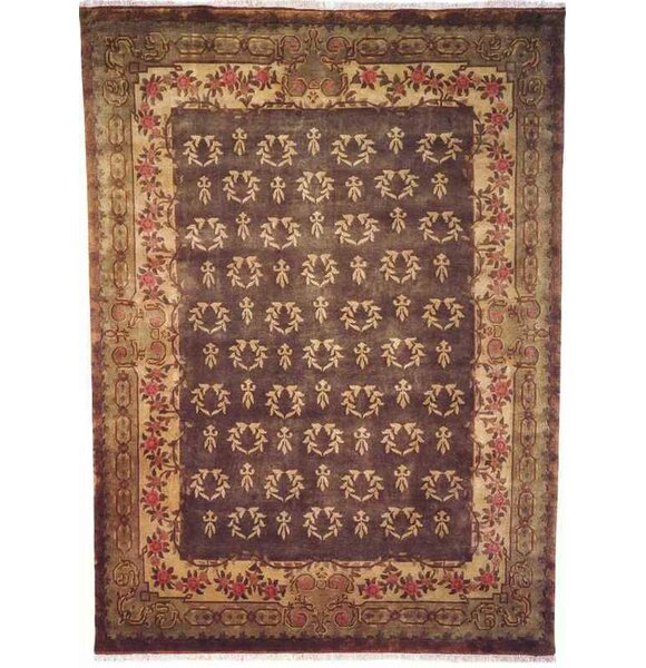 Anne Hand-Woven Antique Green Area Rug by Meridian Rugmakers
