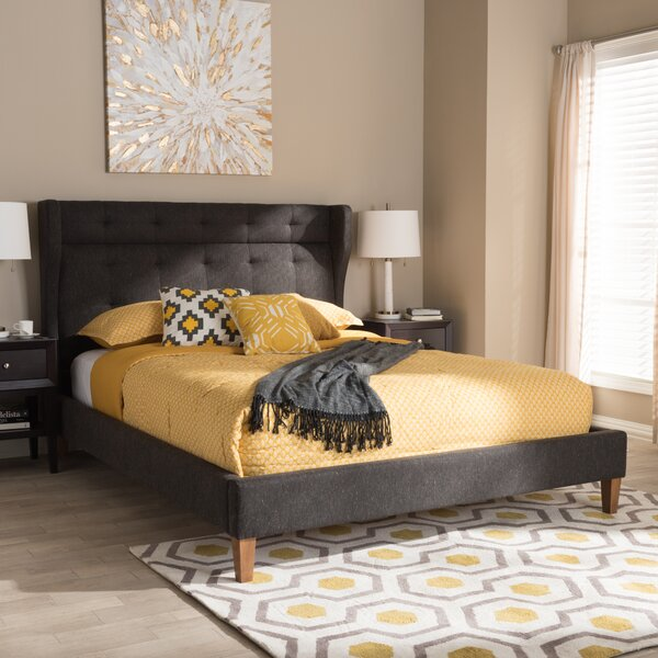 Cazares Mid-Century Upholstered Platform Bed by George Oliver