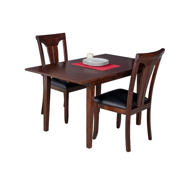 Assante 3 Piece Solid Wood Dining Set With Butterfly Leaf Table By Alcott Hill Find