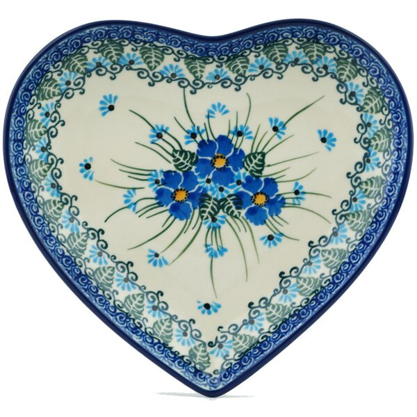 Forget Me Not Heart Shaped Platter by Polmedia