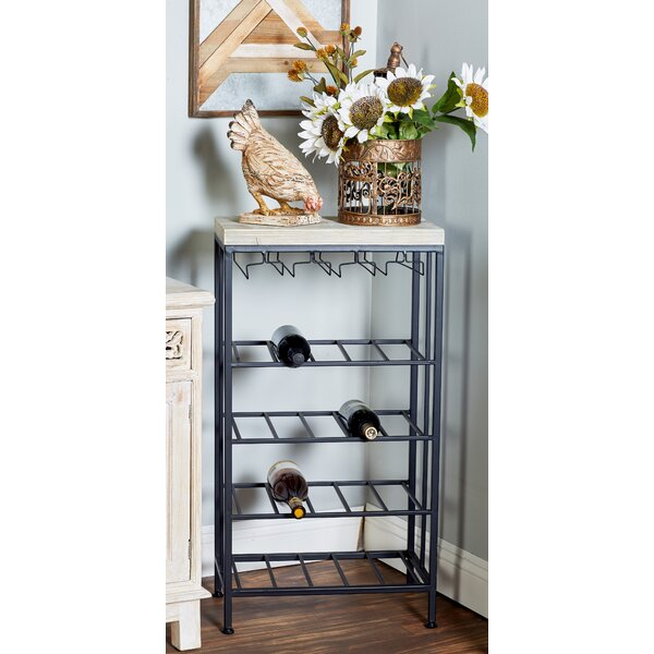 Wilcoxen Rustic 4-Tiered Tabletop Wine Bottle Rack by Brayden Studio