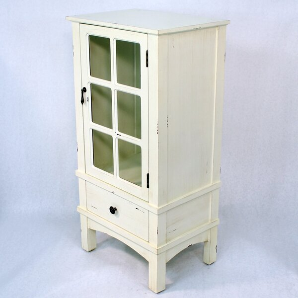 Chanson Wooden Accent Cabinet with Glass Insert by August Grove