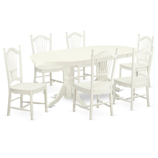 Wolters 7 Piece Extendable Solid Wood Dining Set by August Grove August Grove