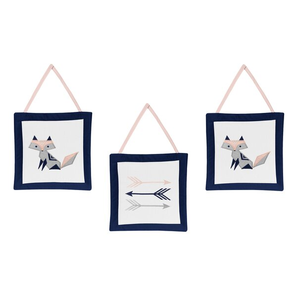 Fox Patch 3 Piece Wall Hanging Set (Set of 3) by Sweet Jojo Designs