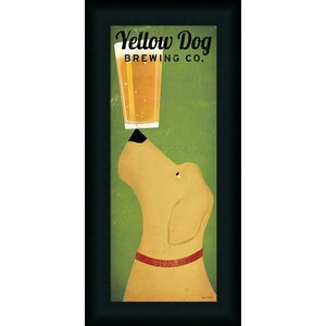 'Yellow Dog Brewing Company' by Ryan Fowler Framed Vintage Advertisement by Buy Art For Less