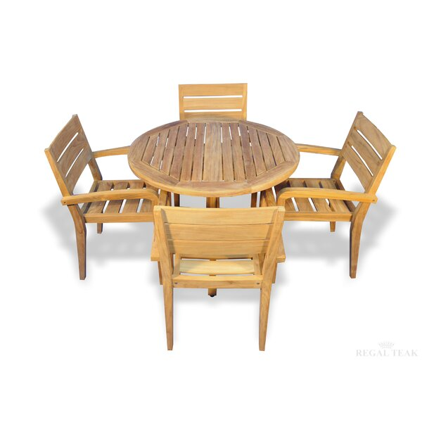 Cronk 5 Piece Teak Dining Set with Cooler Insert by Brayden Studio