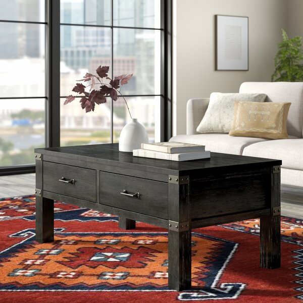 Kaitlin Coffee Table With Storage By Union Rustic