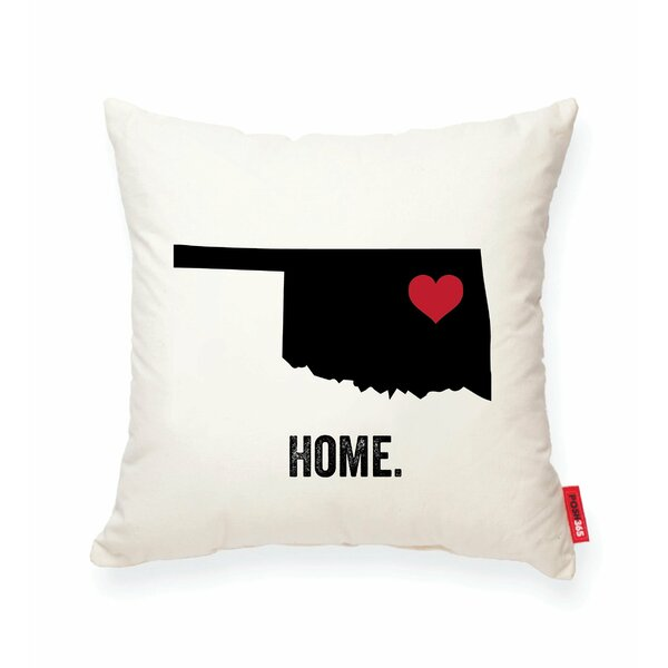 Pettry Oklahoma Cotton Throw Pillow by Wrought Studio