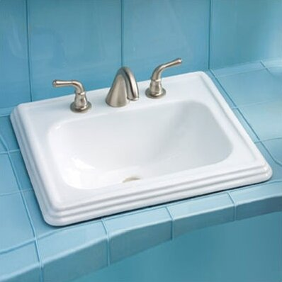 Promenade Ceramic Rectangular Drop-In Bathroom Sin