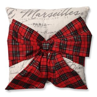 ef429425a8 Holiday Plaid Bowknot Throw Pillow