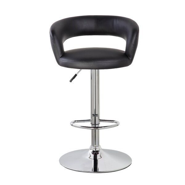 Stansel 25.4 Adjustable Height Swivel Bar Stool by Orren Ellis