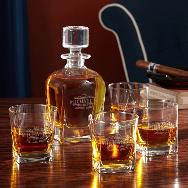 Kensington Personalized 5 Piece Beverage Serving Set by Home Wet Bar