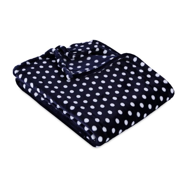 Abbott Velvety Plush Polka Dot Throw by Harriet Bee