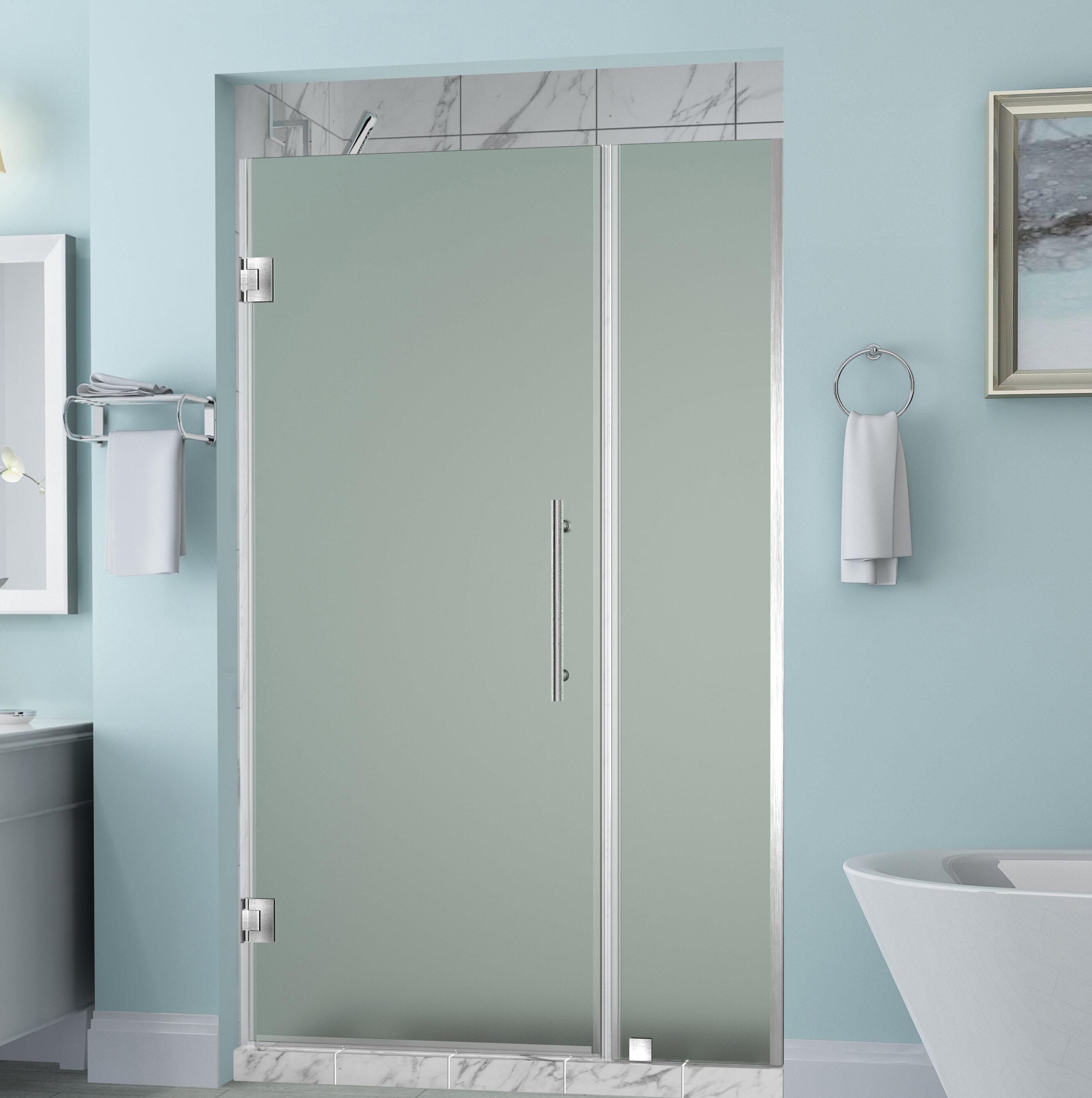 Belmore 59 X 72 Hinged Frameless Shower Door
