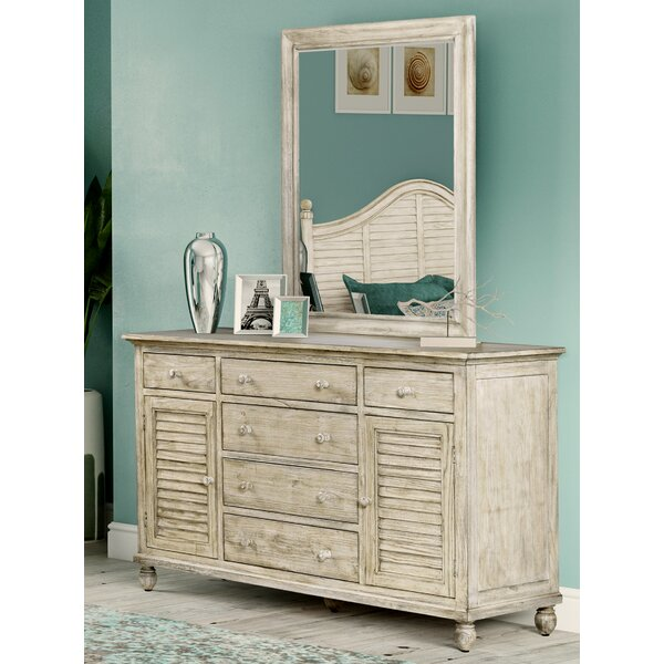 Haylee 6 Drawer Combo Dresser with Mirror by Rosecliff Heights
