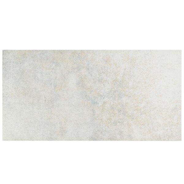 Villa 11 x 22.13 Porcelain Field Tile in Pearl White by EliteTile