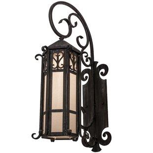 Reviews Greenbriar Oak 1-Light Outdoor Wall Lantern By Meyda Tiffany