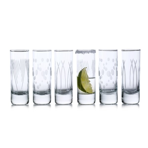 Dinapoli 6-Piece 2.25 oz. Glass Shot Glasses Set (Set of 6) by Ebern Designs