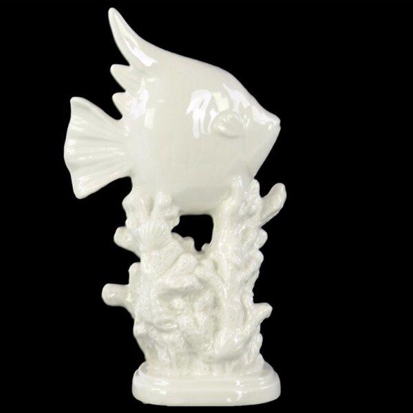 Stills Angelfish on Coral Pedestal Figurine by Bay Isle Home