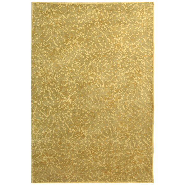Quayle Hand Knotted Silk/Wool Pewter/Teal Area Rug by August Grove