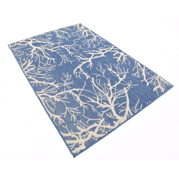 Korhonen Blue Outdoor Area Rug by Zipcode Design