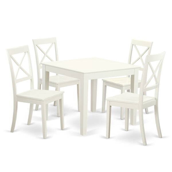 Travis 5 Piece Dining Set by Charlton Home