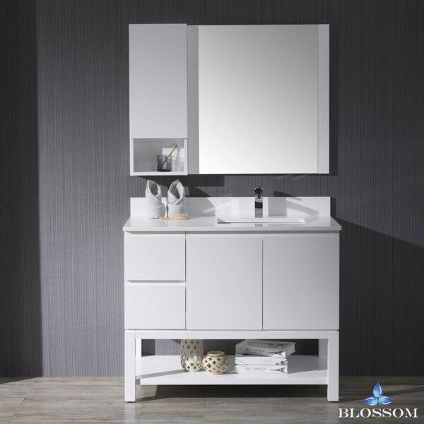 Maly 42 Single Bathroom Vanity Set with Mirror by Orren Ellis