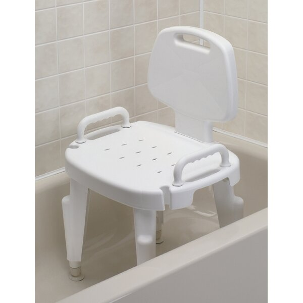 Adjustable Shower Chair with Arms and Back by Maddak