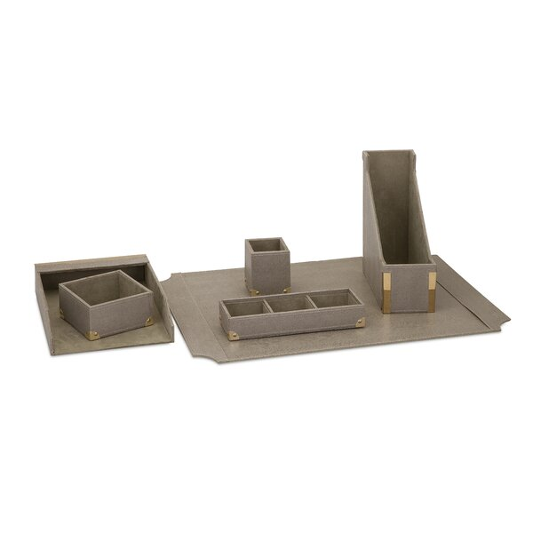 Iraan 6 Piece Desk Accessory Set by Greyleigh